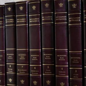 94版大英百科全书32册全套 收藏版枣红色精装大16开竹节状书脊